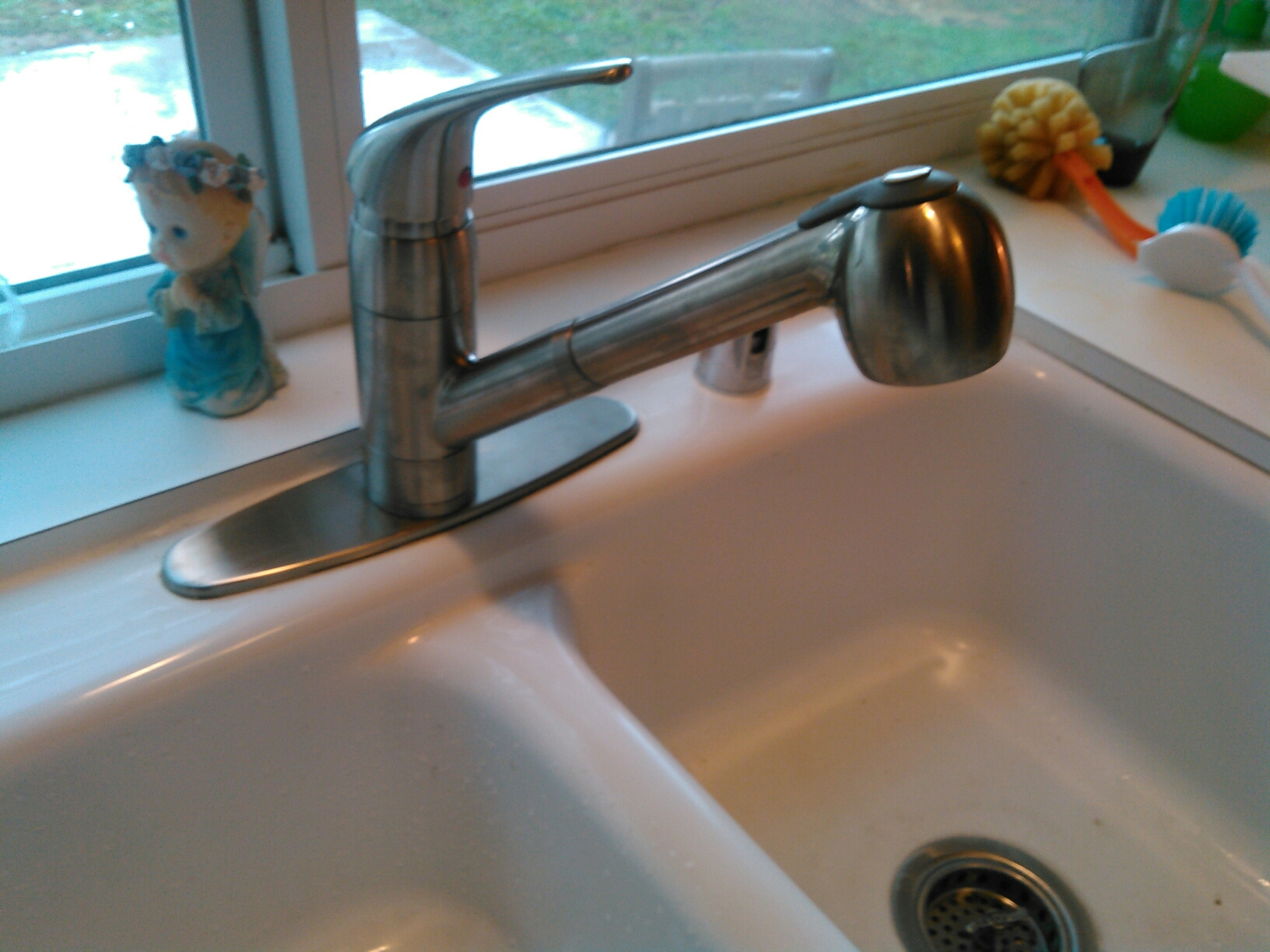 Rowland Heights, CA - Installed new kitchen faucet and disposal