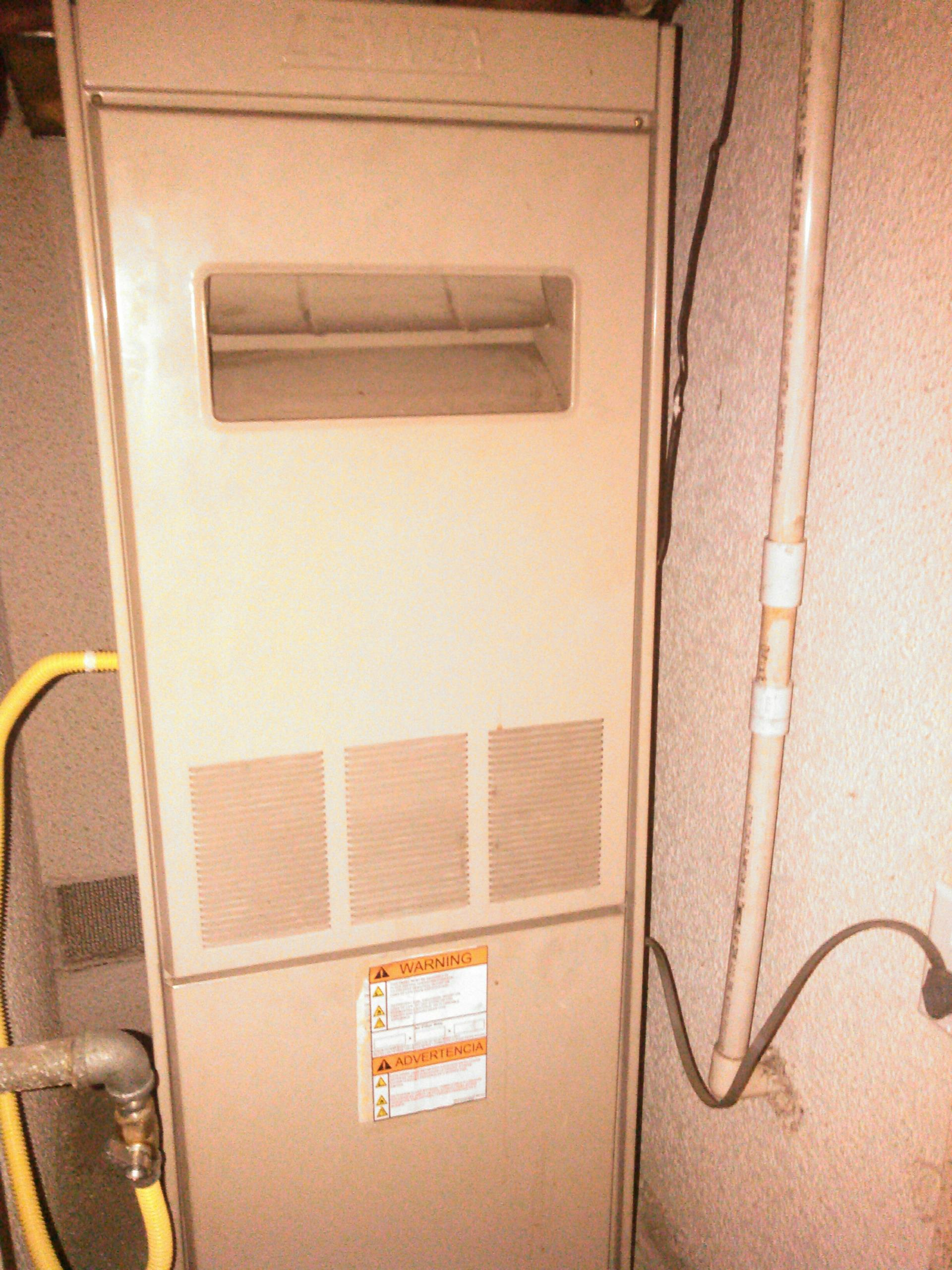 Temple City, CA - Repaired upflow furnance that had shorted out components due to power surge by Edison