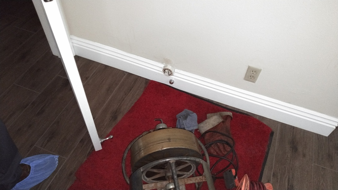 Diamond Bar, CA - Cable secondary drain from wall clean out access