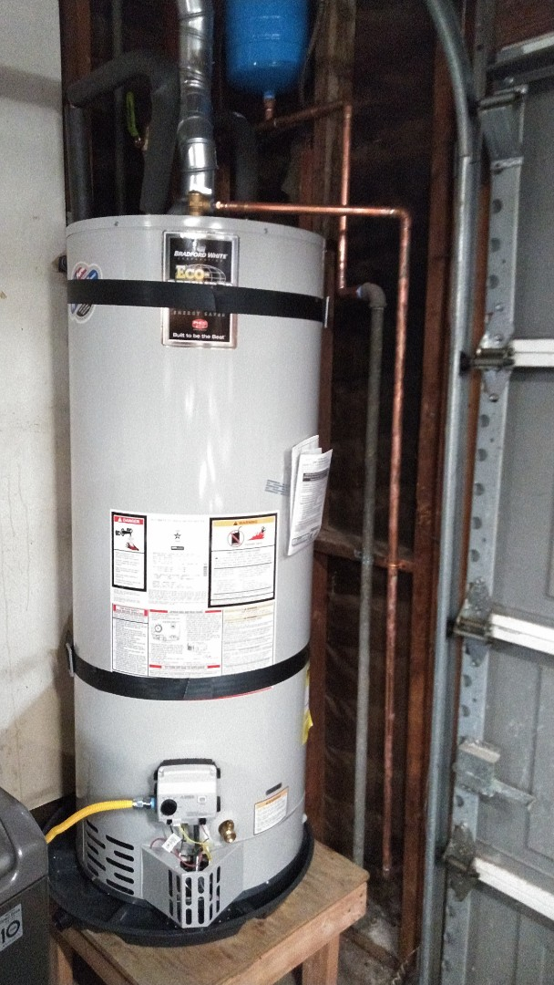 Rancho Cucamonga, CA - Install new 50gal water heater with expansion tank and Smitty pan.