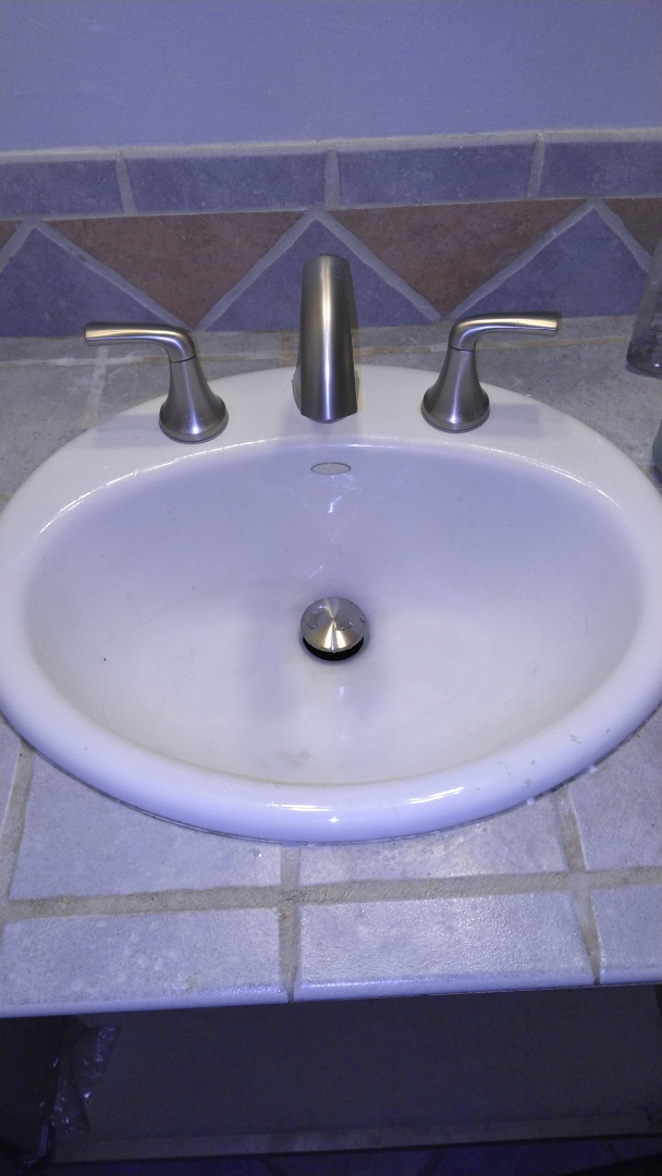 Orange, CA - Cleared lavatory stoppage and installed customer supplied lavatory faucet