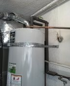 Huntington Beach, CA -  installing water heater ballvalve