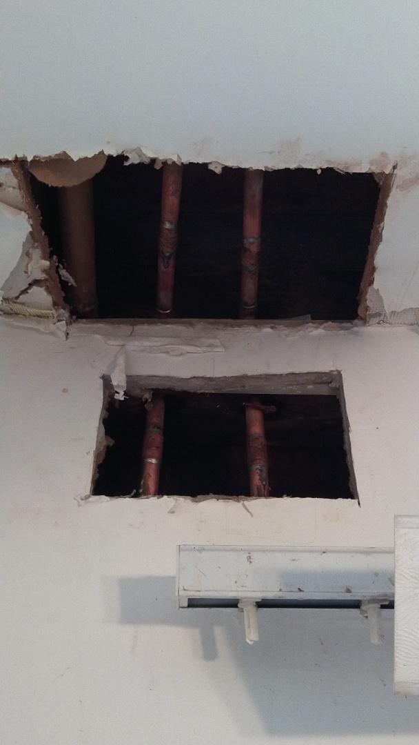 La Habra, CA - Water leak repair both half inch 90deg