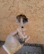 La Verne, CA - Hose Bibb leak in wall repairs 2X