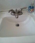Pasadena, CA - Clear lav sink