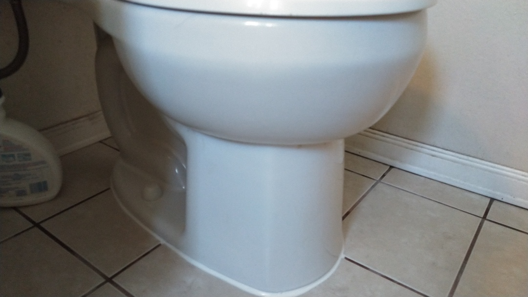 Rowland Heights, CA -  bowl leaking at toilet base tech installed new wax ring kit and caulked bowl