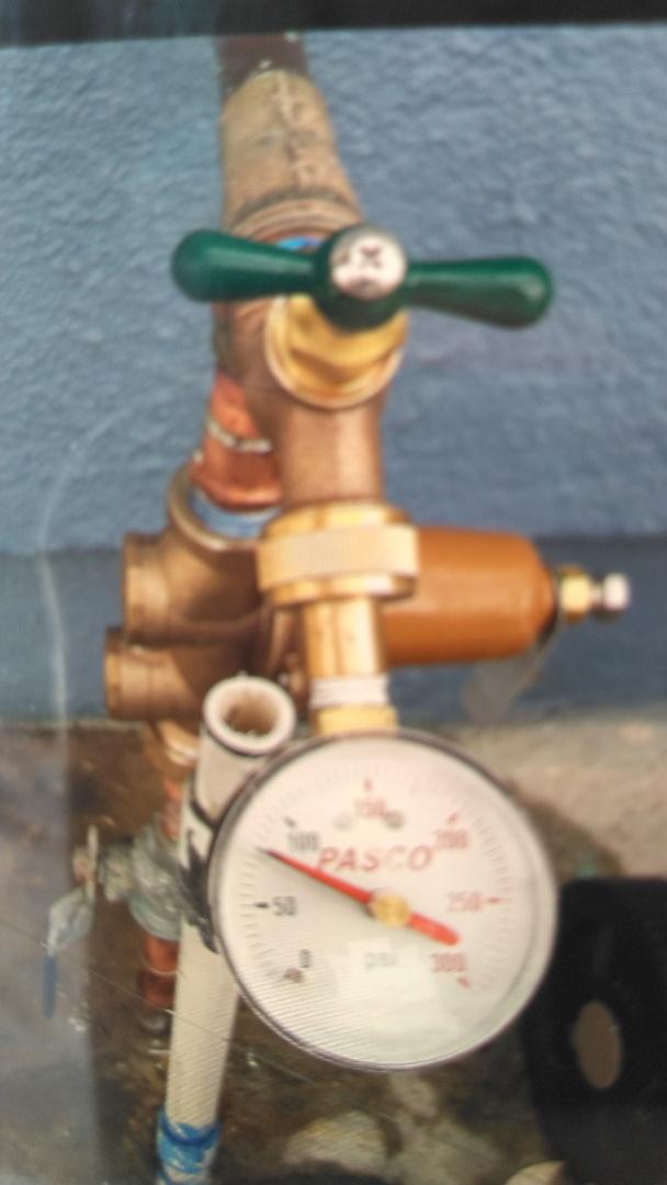 La Puente, CA - Installed new water pressure regulator and adjusted water pressure to 75 psi