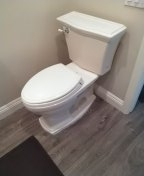 San Clemente, CA - Toilet pull and reset new closets bolts and wax ring