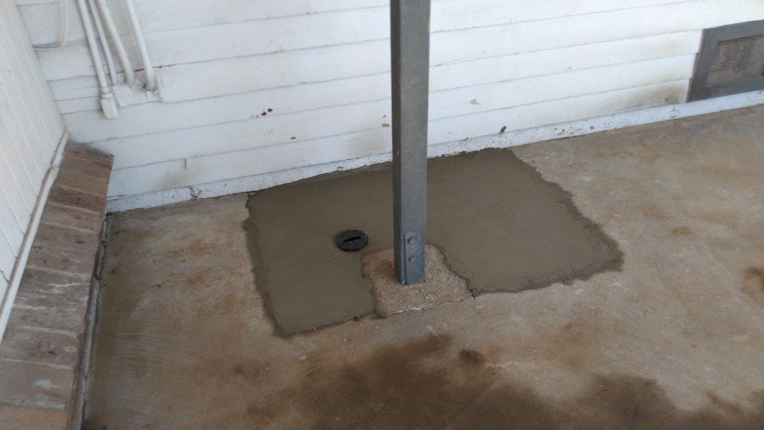 West Covina, CA - Installed 2 way clean out access with perma liner inside sewer clay pipe and rough concrete finish