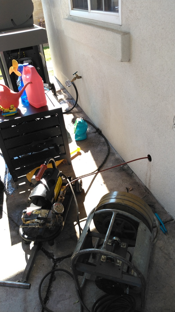 Altadena, CA - Hydro jetting branch for kitchen and free inspection report