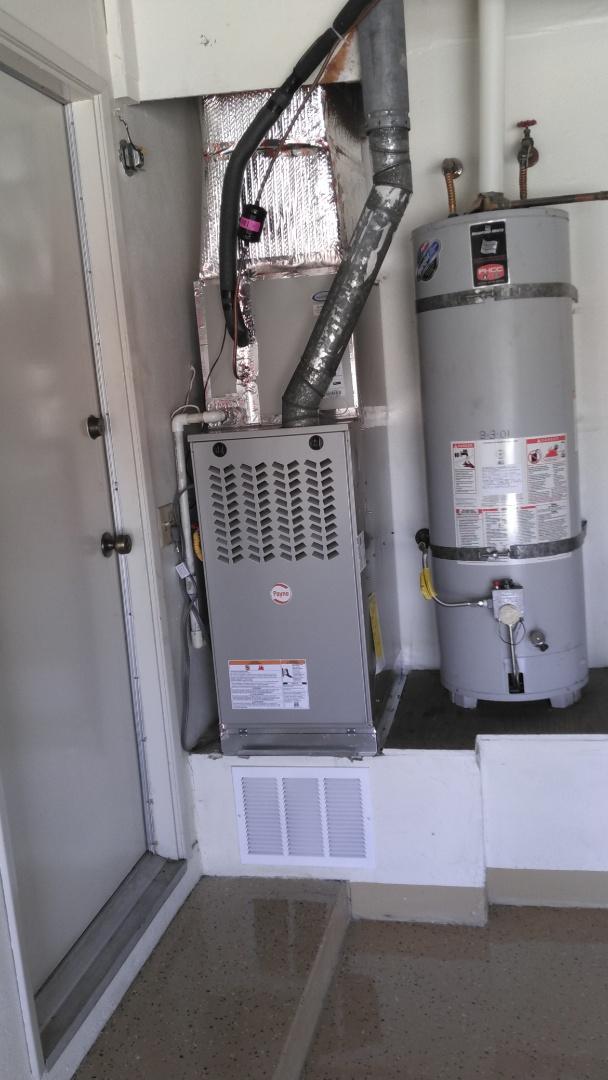 Hacienda Heights, CA - Installed new 3 ton A/C split system