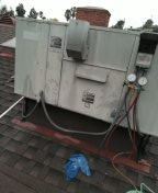 Monterey Park, CA - Add refrigerant, installed new circuit protector,washed condenser coil with solution.