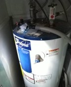 Tustin, CA - Needs a new electric water heater but it is landlocked nowhere to pipe the temperature pressure relief valve