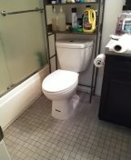 West Hollywood, CA - Install a costumer own toilet.
