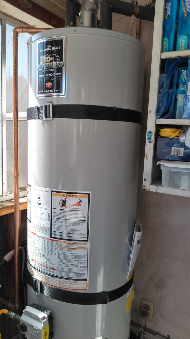 Azusa, CA - Installed new 40 gallon water heater with all extra items to be up to code