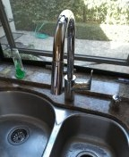 Pasadena, CA - Installed a single handle kitchen faucet with sprayer