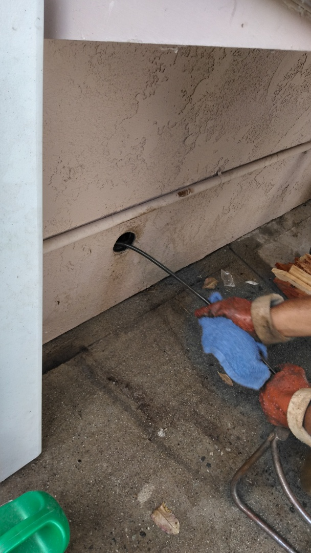 Hacienda Heights, CA - Ran cable through kitchen clean out restored drain flow