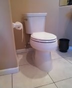 Trabuco Canyon, CA - Install a new toilet and angle stopp