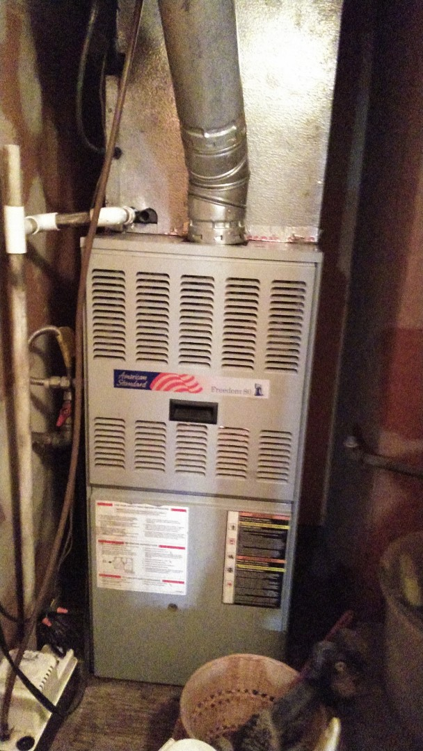 Glendora, CA - Repaired upflow furnance with new induce draft motor and new pressure switch