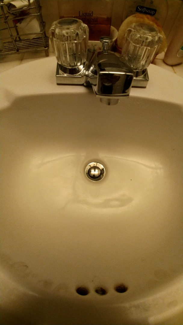 San Fernando, CA - Replaced a 2 handle lav. faucet with 2 angle stops and water supply lines