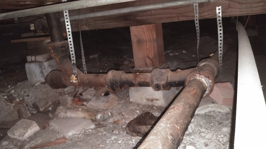 Hacienda Heights, CA - Repaired small section of old secondary drain line for kitchen
