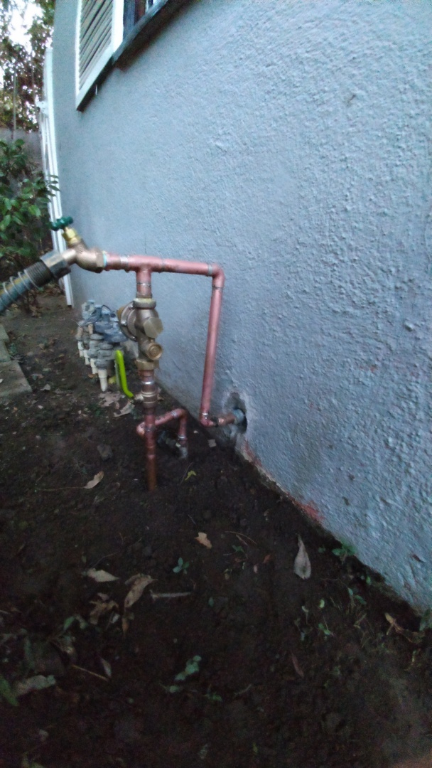 San Gabriel, CA - Installed new water pressure regulator with ball valves new Riser