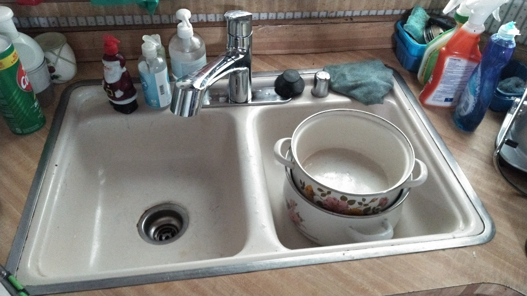 Walnut, CA - Cleared out kitchen stoppage by removing plastic p trap