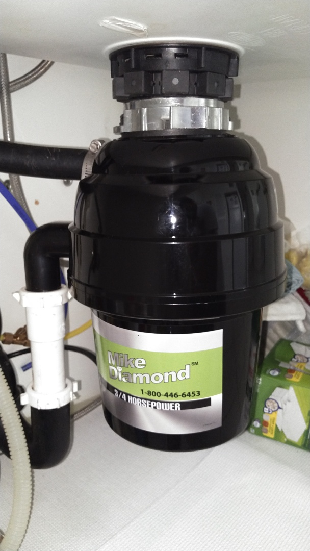 Burbank, CA - Replaced a 1/2 HP garbage disposal with a 3/4 Mike Diamond Garbage Disposal
