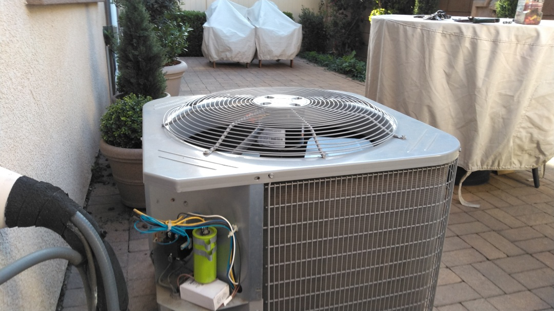 Claremont, CA - Repaired A/C unit outside and rebuilt two toilets