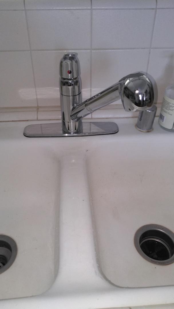 South Pasadena, CA - Installed kitchen sink sprayer faucet