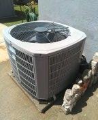 Service unit,condenser coil unit acid washed, installed new washable filter.