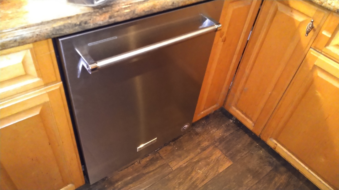 Installed new dishwasher provided by customer