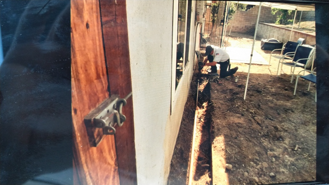 Installed new section of gas line going towards the back patio feeding water heater and other fixtures