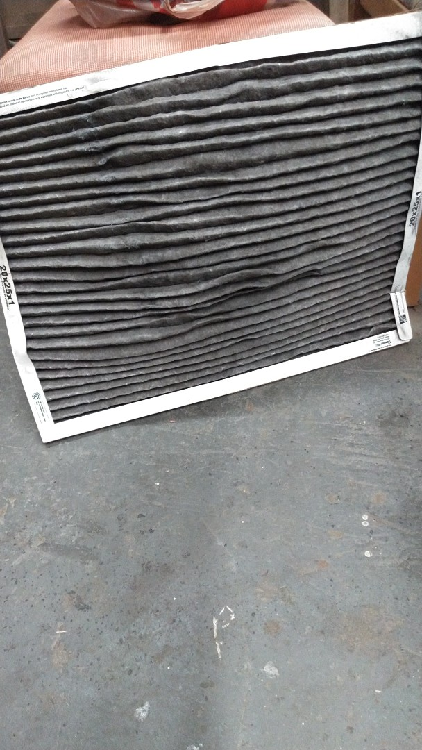 Baldwin Park, CA - Air filter change at a commercial building