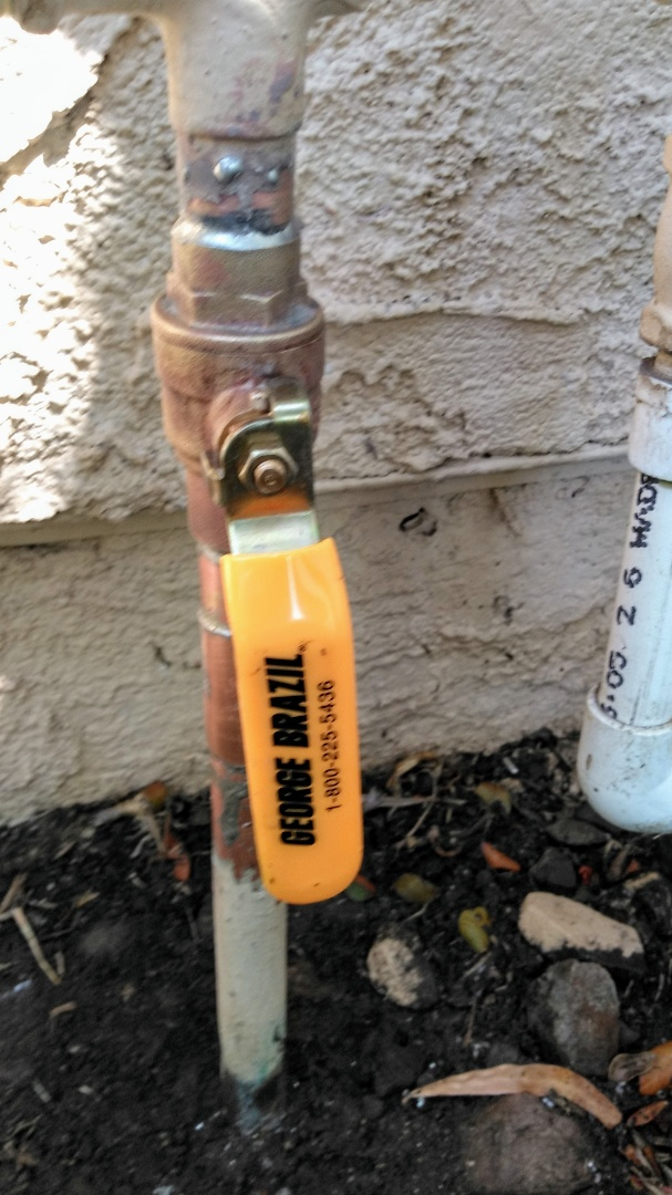 Install new main shut off valve and shower valve repair.