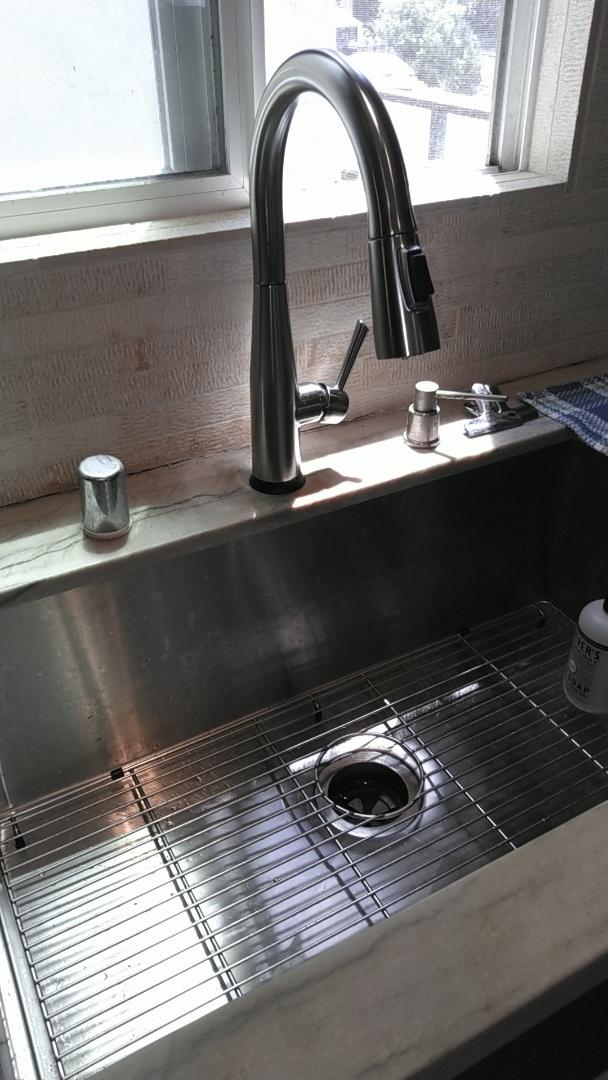 Laguna Beach, CA - Kitchen sink install