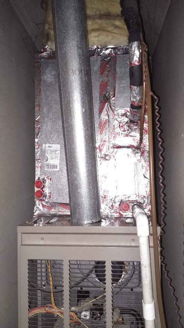 Fixed low voltage short coming from furnace circuit board and cleaned evaporator coil that had lots of dog hair