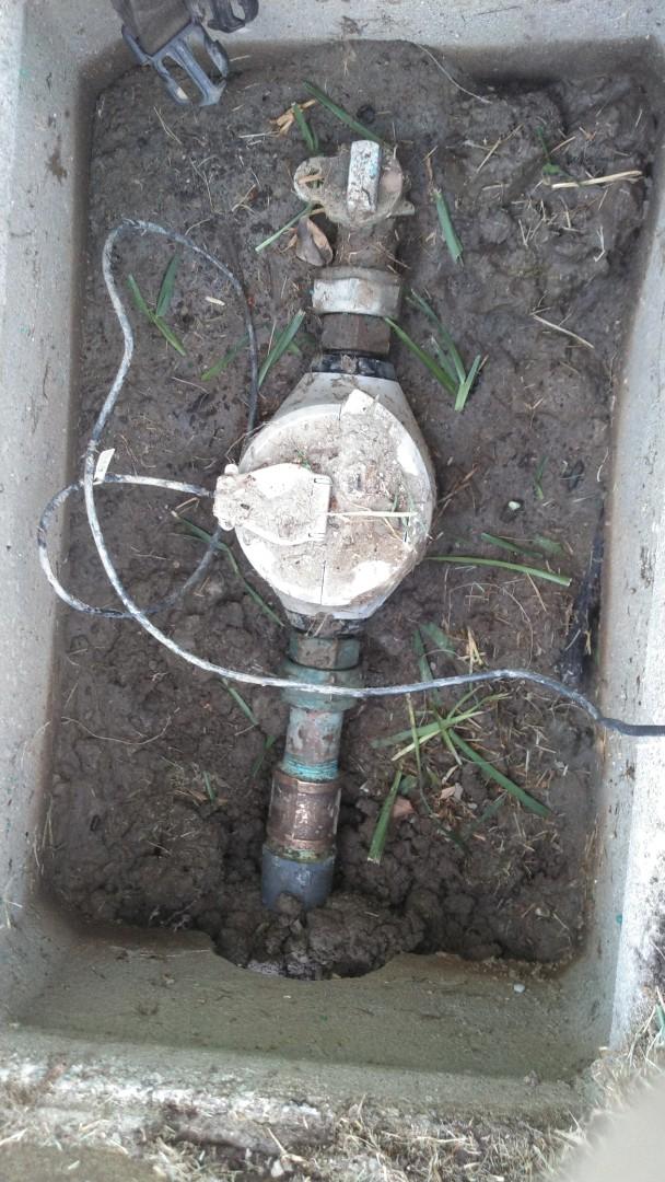 Leak at water meter.