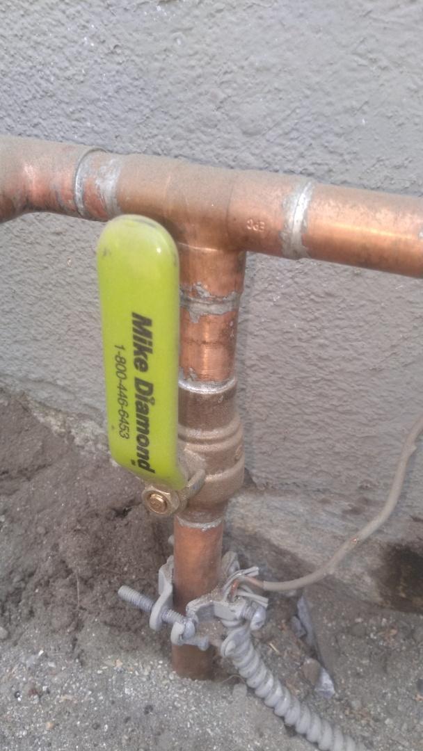 Pasadena, CA - Replaced water ball valve shut off