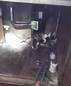 Gardena, CA - Installed new chrome two parts waste,new airgap,new tail piece,new chrome p trap,separate angle stops for hot side dishwasher, shut valve for kitchen faucet, installed new main water ball valve, modified riser, installed pressure regulator, installed pressure relief valve,new hose bibs front and backyard.