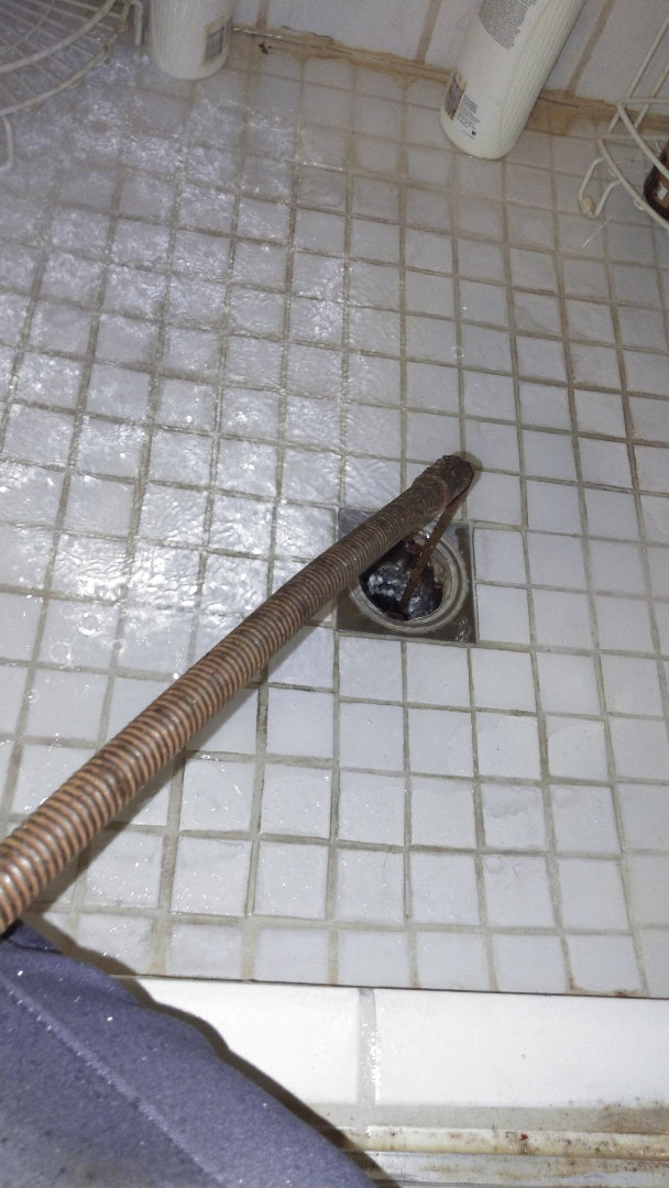 Cleared shower stoppage