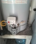 Replace unitrol gas control for water heater.
