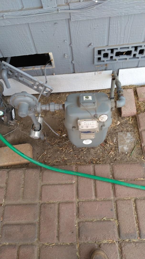 Estimate on gas flex underneath mobile home