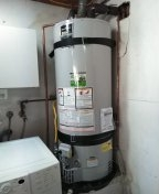 New water heater installed