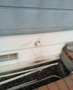 Snaked kitchen drain