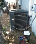 Repair a/ c system, new combo run cap and new contactor .