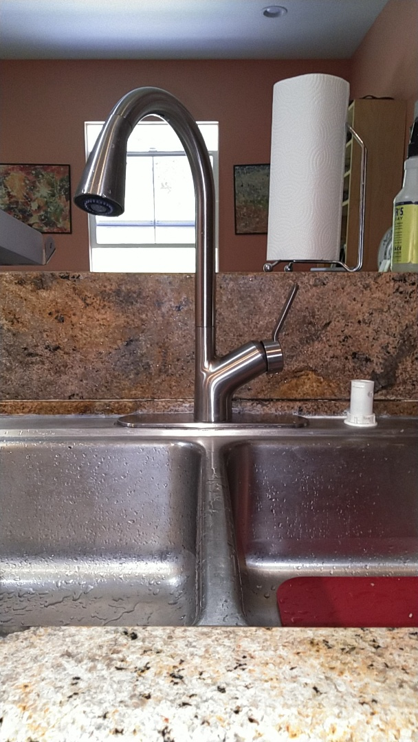 Customer supplied faucet instal