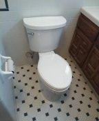 Installed new toilet