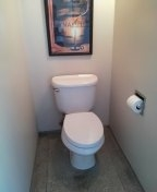 Reset the toilet.