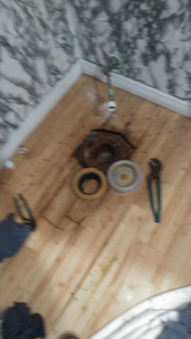 Plumbing repairs and resetting the toilet